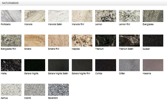 Naturamia agape stone products for Encimeras de granito gama de colores